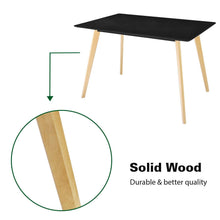 Buy jerry maggie dinner table desk large family size with wood legs stone like polish surface multi purpose work study living room kitchen furniture decor modern fashion simple rectangle black
