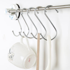 Shop mxy s hook s shaped hanging stainless steel hooks tool pack of 5 pcs metal hooks hangers for home kitchen and garage gardening tools