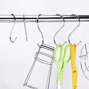 Online shopping s shaped hooks rustproof for hanging pots and pans heavy duty stainless steel metal hanger for home office kitchen utensils set of 40