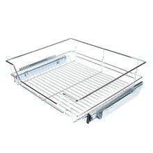Heavy duty gototop kitchen sliding cabinet organizer pull out chrome wire storage basket drawer for kitchen cabinets cupboards 20 3 17 35 3