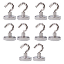 Buy tlbtek 10 pack of 75 lbs neodymium magnetic hooks heavy duty powerful strong magnetic hooks for bathroom bedroom kitchen workplace office and garage