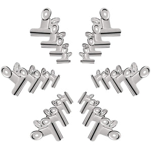Shop for gydandir 24 pcs heavy duty stainless steel binder clips hinge clips for documents files pictures chip bags home office school kitchen supplies assorted 4 size silver