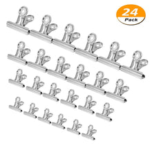Buy chip clips bag clips food clips 24 pack stainless steel heavy duty clips all purpose air tight seal grip clips for kitchen office silver