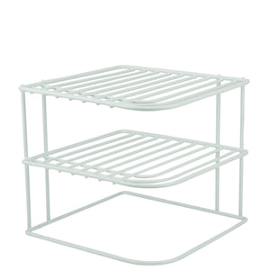 Discover decorrack set of 2 countertop corner shelf organizer 3 tier heavy duty corner rack counter and cabinet corner helper shelf free standing rack for kitchen counter pantry and cupboards white