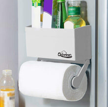 Amazon my refrigerator rack 2 pcs strong magnetic fridge paper towel holder to hold regular large sized roll superb kitchen space rack shelf storage for plastic wrap aluminum roll 799 2