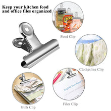 Top chip clips bag clips food clips set of 18 messar stainless steel heavy duty clips for bag silver all purpose air tight seal good grip clips for home kitchen office school 18 pack