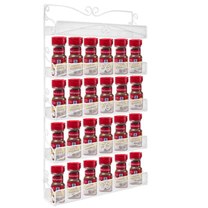 Related spice rack hanging wall mounted spice rack organizer shelf for pantry kitchen cabinet door 5 tier white