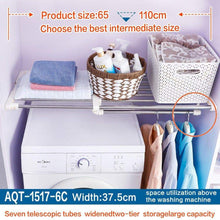 Get hershii closet tension shelf expandable telescopic rod heavy duty clothes hanging rail adjustable diy storage organizer shoe rack for garage bathroom kitchen bedroom