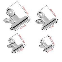 Shop here gydandir 24 pcs heavy duty stainless steel binder clips hinge clips for documents files pictures chip bags home office school kitchen supplies assorted 4 size silver
