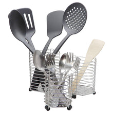 Latest bignay stainless steel kitchen utensil holder caddy holder brushed stainless steel cookware cutlery utensil holder pack of 3
