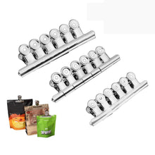 Storage chip clips bag clips food clips set of 18 messar stainless steel heavy duty clips for bag silver all purpose air tight seal good grip clips for home kitchen office school 18 pack