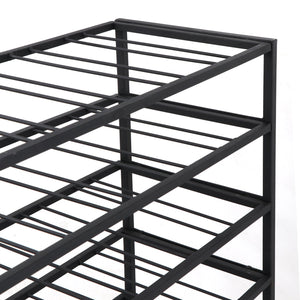Purchase homgarden 54 bottle free standing deluxe large foldable metal wine rack cellar storage organizer shelves kitchen decor cabinet display stand holder