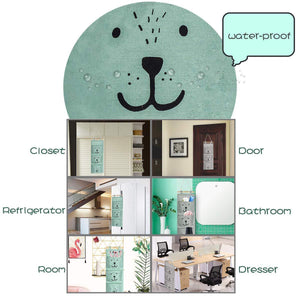 Select nice aitsite 2 pcs wall hanging storage bag cartoon over the door closet organizer linen fabric organizer with 3 semicircular pockets for bedroom bathroom kitchen cyan grey