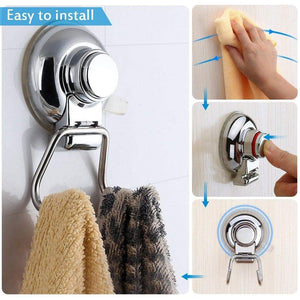 Featured bathroom hook towel hooks bathroom hook with suction cup hook holder removable shower kitchen hooks hanger stainless steel heavy duty wall hooks for towel robe home kitchen bathroom 2 pack
