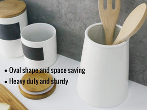 Featured sweese 3608 porcelain utensil holder for kitchen white