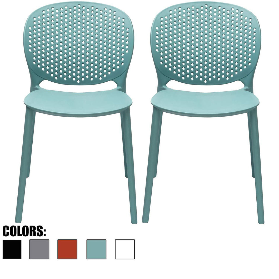 Discover the 2xhome set of 2 blue contemporary modern stackable assembled plastic chair molded with back armless side matte for dining room living designer outdoor garden patio balcony work office desk kitchen