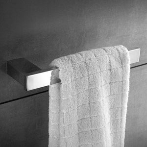 Latest bathroom towel holders stainless steel 4 piece towel bar toilet paper holder towel ring robe hook bath accessory set rustproof wall mount kitchen hanger contemporary square style brushed nickel