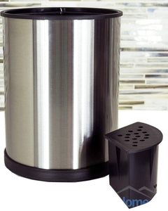 Selection stainless steel kitchen utensil holder rotating cooking utensil holder made from fingerprint resistant brushed stainless steel