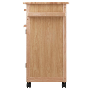 Buy now winsome wood single drawer kitchen cabinet storage cart natural