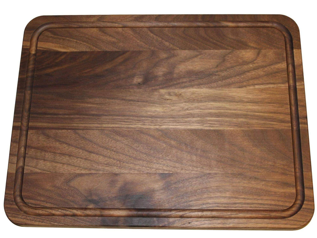 Order now extra large reversible walnut wood cutting board by shorz 17 x 13 x 1 inch made in usa from american black walnut hardwood boards keep knives sharp juice groove keeps kitchen countertop clean