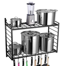 SparkWorks 2-Tiered Wall Mounted Pot Rack