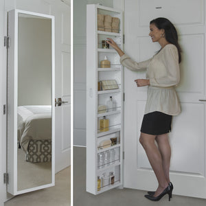Products cabidor deluxe mirrored behind the door adjustable medicine bathroom kitchen storage cabinet