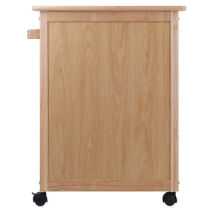 Budget friendly winsome wood single drawer kitchen cabinet storage cart natural