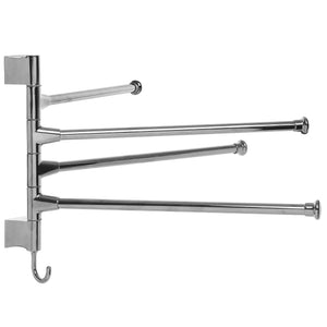 Order now mygift wall mounted stainless steel swivel towel bar 4 swing arm hand towel drying rack for bathroom and kitchen