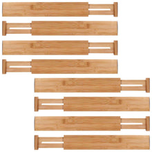 Shop here moma bamboo drawer dividers set of 8 bamboo natural wood kitchen drawer organizer anti scratch desk organizer dresser silverware utensil drawer organizer underwear drawer organizer