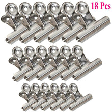 Save chip clips bag clips food clips heavy duty stainless steel clips for bag food bag sealing clips all purpose air tight seal clip cubicle hooks for office school kitchen 18 pack 3 2 5 2