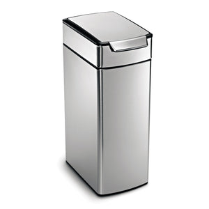 Great simplehuman 40 liter 10 6 gallon stainless steel slim touch bar kitchen trash can brushed stainless steel