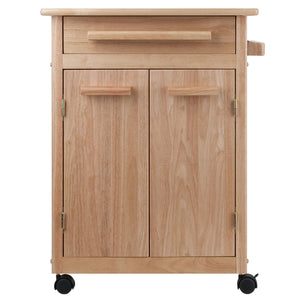 Cheap winsome wood single drawer kitchen cabinet storage cart natural