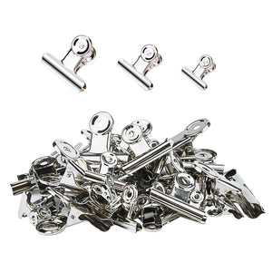 Best seller  sunmns 50 pieces stainless steel clips heavy duty metal clip for photos bags kitchen home office usage 3 sizes 1 18 1 5 2 inch