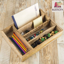 Results rusticity wooden utensil drawer organizer with 5 compartments kitchen flatware cutlery tray organizer mango wood handmade 13 7 x 10 2 x 2 6 in