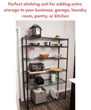 Top internets best 6 tier wire shelving rack nsf wide flat black home storage heavy duty shelf wide adjustable freestanding rack unit kitchen business organization commercial industrial