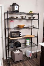 Shop here internets best 6 tier wire shelving rack nsf wide flat black home storage heavy duty shelf wide adjustable freestanding rack unit kitchen business organization commercial industrial