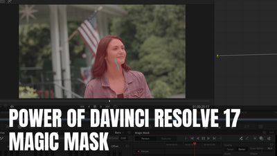 New Magic Mask in DaVinci Resolve 17