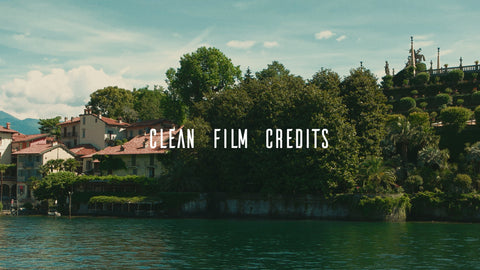 Film Credits Template