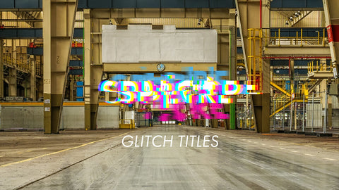 Glitch Title Template
