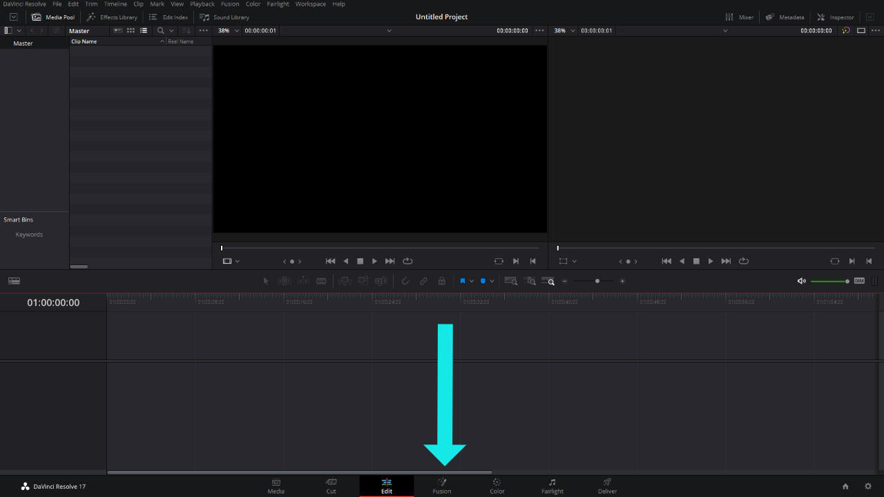 first step to install templates in davinci resolve 17.2