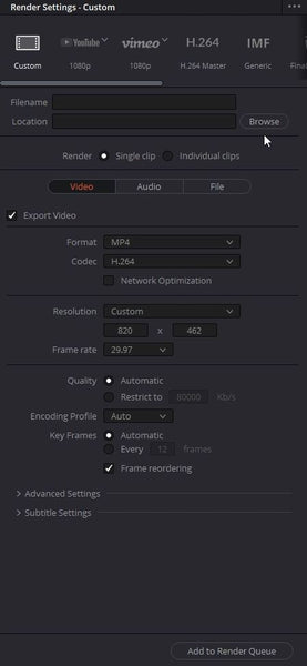 export settings for facebook cover