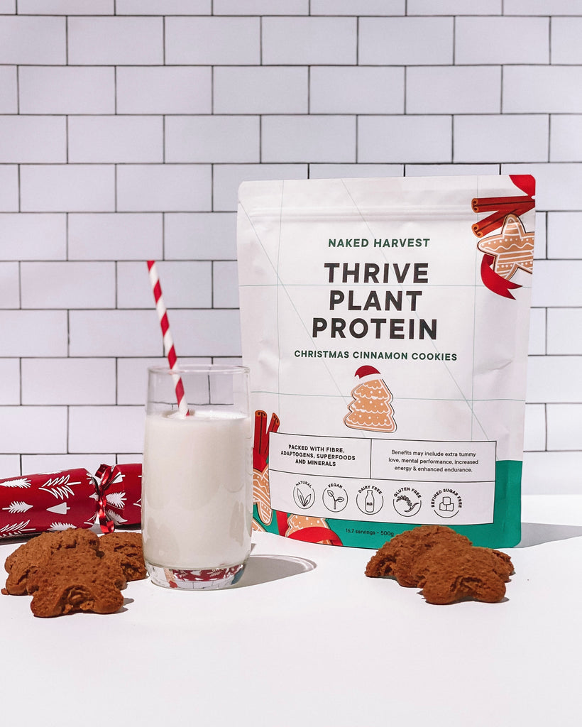 naked harvest limited edition christmas cinnamon cookies plant protein