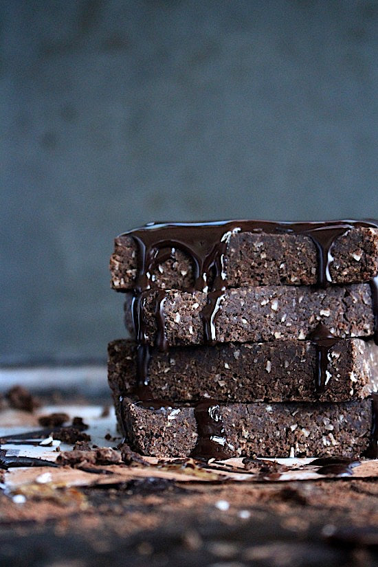 one bowl mix and make brownie batter breakfast bars