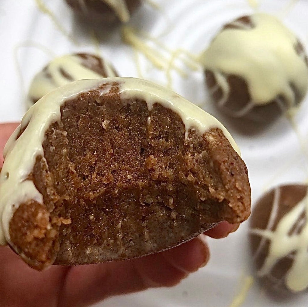 Gingerbread Protein Energy Balls