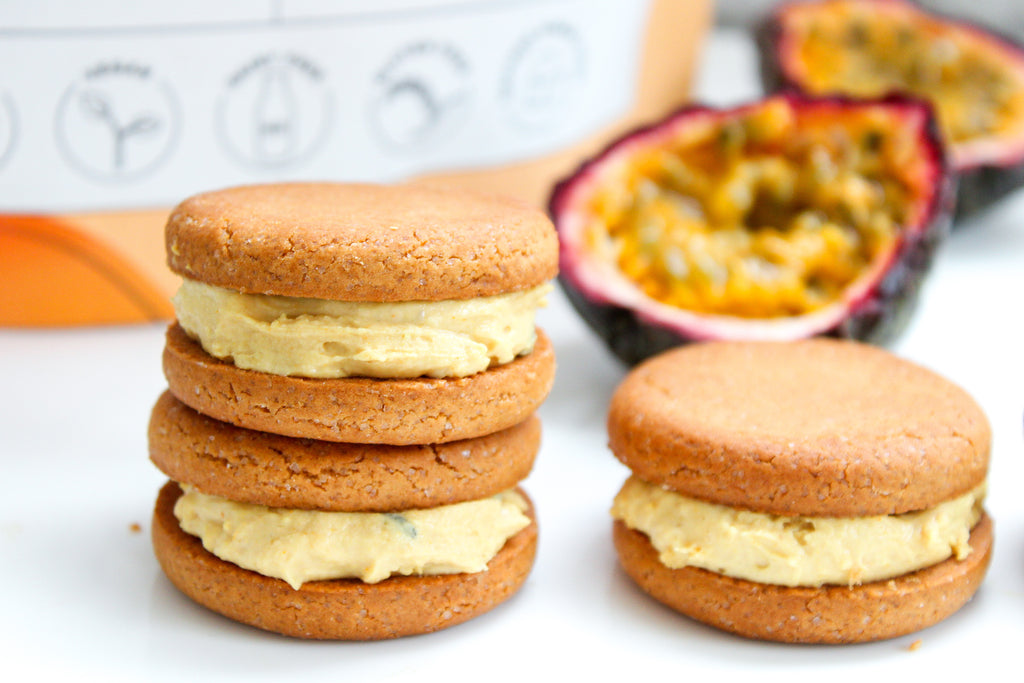 Mango Cheesecake Oreos with Naked Harvest Mango Cheesecake Plant protein