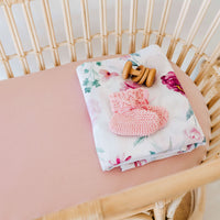 Lullaby Pink Bassinet Sheet / Change Pad Cover