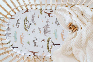 African Safari Bassinet Sheet / Change Pad Cover