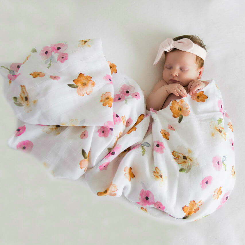 Poppy Flower - Organic Muslin Wrap