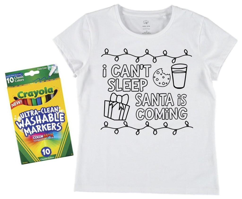 Santa is Coming + Washable Markers