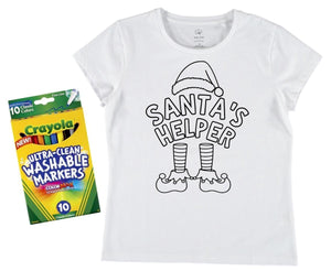 Santa's Helper + Washable Markers